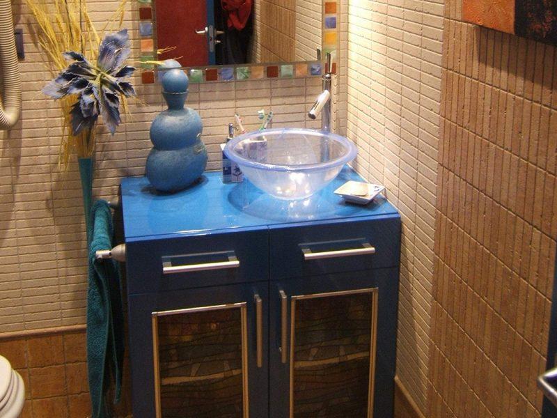 Lavabo tono azul